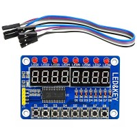 Модуль TM1638 - 8 семисегментных индикаторов + 8 светодиодов + 8 кнопок