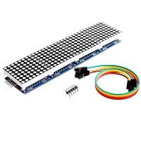 Светодиодная матрица из 4 матричных дисплеев на MAX7219 для Arduino