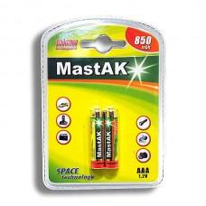 Аккумулятор MastAk AAA (R03) NiMH 850mAh