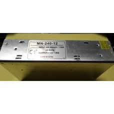 Блок питания MN-240-12 стабилизированный импульсный 12V, 20A, металлический корпус.