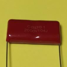 CBB-81 0,1mkf - 2000v (± 5%) полипропиленовые