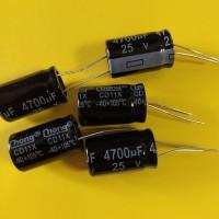 Конденсатор электролитический 4700uF 25V 105°C 16*25 mm (CHONG)