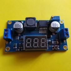Повышающей преобразователь XL6009-LED регулируемый с вольтметром Uin: 3 ... 32V, Uout 5 ... 35V