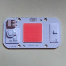 Светодиод ДЛЯ РАСТЕНИЙ 380NM - 840NM LED 20W 220V с защитой