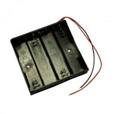 ДЕРЖАТЕЛЬ ДЛЯ аккумулятора HOLDER 4 X 18650 С проводами