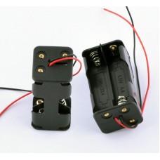 Держатель для 4 батареек АА провод 15см вертикаль KLS5-810-B