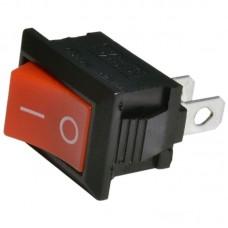 Выключатель MRS-101 (KCD1) клавишный мини КРАСНЫЙ
