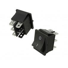 Переключатель KSD4 6pin 15A, 250V, ON-ON клавишный широкий ЧЕРНЫЙ 31x25.5mm
