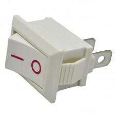 Выключатель MRS-101 клавишный мини БЕЛЫЙ