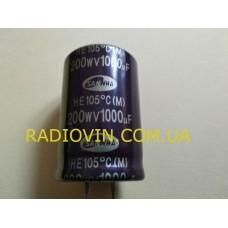 1000mkf - 200v (105 ° C) Электролит HE 30 * 45