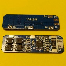 BMS контроллер заряда-разряда для 3-х Li-Ion аккумуляторов 18650 HX-3S-01 8A 11.1-12.6V