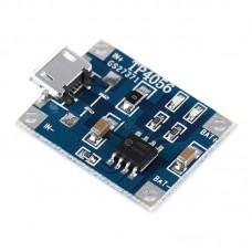 Модуль FC-75 контроллер заряда Li-ion аккумулятора на TP4056 5V 1А вход micro USB