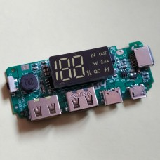 ПЛАТА КОНТРОЛЛЕР H961-U V3.0 К POWERBANK С LED ДИСПЛЕЕМ, USB, 5В, 2А