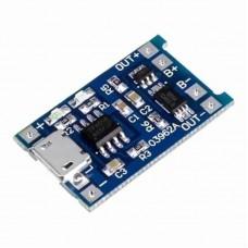 Контроллер заряда для литиевых батарей 5В 1 А на микросхеме TP4056 с функцией защиты