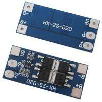 BMS контроллер заряда-разряда для 2-х Li-Ion аккумуляторов 18650 HX-2S-D20 13/20A 7.4V