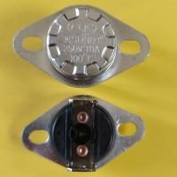 Термостат KSD301 10A 250В 100°C с кнопкой (норм/замкн.,верт.контакты,неподв. фланец)