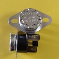 Термостат KSD301 10A 250В 120°C с кнопкой (норм/замкн.,верт.контакты,неподв. фланец)