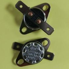 Термостат KSD301 160°С 10A (норм/замкн., гориз. конт., подв. фл., бакелит, FBVL)