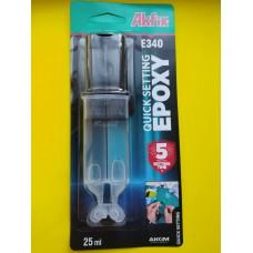 Эпоксидный клей в шприце универсальный Akfix Е340