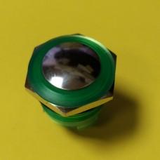 Кнопка влагозащитная JT19A-G10J, 3А IP67 IK08, OFF- (ON), 2pin, зеленая