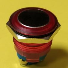 Кнопка влагозащитная JT19A-R10J, 3А IP67 IK08, OFF- (ON), 2pin, красная