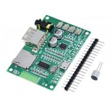 Модуль аудио BT201 Bluetooth 5.0,USB,TF, BLE, DC 5В, AUX