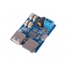 MP3 модуль с TF micro SD картой и усилителем 3Ватт