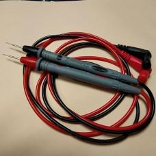 Шнуры мультиметра с серыми тонкими щупами, 20А, 4мм, силиконовый кабель