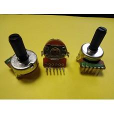 Резистор переменный сдвоенный 50кОм 0,25Вт B503 16мм 6выводов в 1 ряд