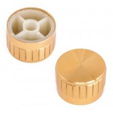 Ручка алюминиевая ребристая для резистора D26мм Gold