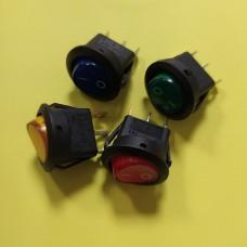 Переключатель клавишный KCD1-8, 20А, 12В