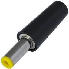 Штекер питания DC, 5,5\2,5мм (жёлтый), длина-14мм,  корпус бакелит