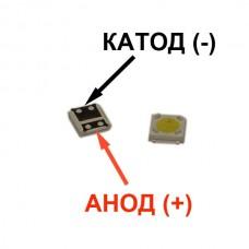 Светодиод для подсветки LCD TV 3535 3V 1W 100LM LUMENS A129CECEBP18A-2092