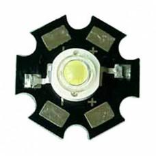 Светодиод 1 Вт на плате Star холодный белый 6500 К 3.0-3.2 В 90LM