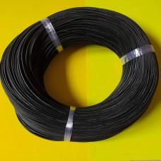 Провод монтажный многожильный 20AWG (0,52мм²), силиконовый, черный (1метр)