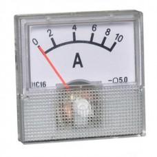 Амперметр стрелочный 10А без шунта размер 40х40