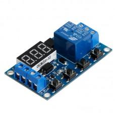 Программируемый циклический таймер (реле времени)XY-J02 цифровой 0,1сек-999 минут