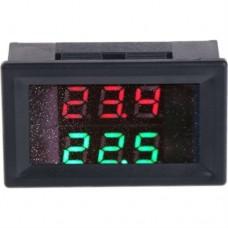Цифровой термометр двойной дисплей красный + зеленый DC В 4-28 -20 ° ~ 99 °