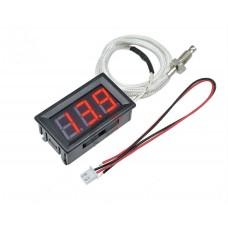 Термометр XH-B310 цифровой встраиваемый -30 ~ 800C с термопарой К-типа КРАСНЫЙ 12V