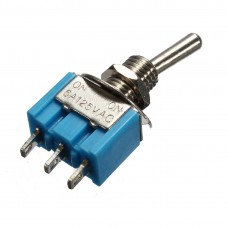 Тумблер MTS-102 (ON-ON), 3pin, 3A 250VAC