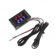 Цифровой термометр двойной дисплей красный + синий DC В 4-28 -20 °С -100°С