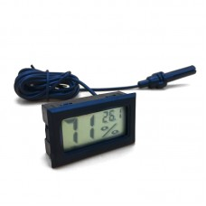 Термометр-гигрометр с выносным датчиком влажности - зондом (чёрный)