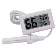 Термометр-гигрометр с выносным датчиком влажности - зондом (белый)