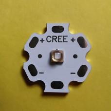 Ультрафиолетовый светодиод GREE 5 Вт 380-385nm 120 градусов, LG3535, 20 мм плата star