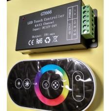 Контроллер RF RGB 18А радио с сенсорным пультом для светодиодной ленты