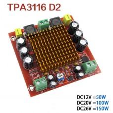Аудио усилитель звуковой D-класса TPA3116D2 150W моно