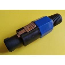 Штекер Спикон 4-х контактный под шнур, корпус пластик.