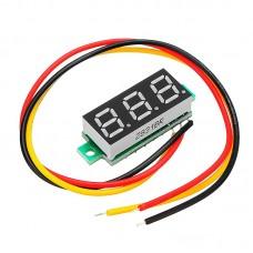 Вольтметр цифровой DVM-28.3AB постоянного тока 0-100V ЗЕЛЕНЫЙ три провода